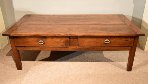 19th Century French Cherrywood Coffee Table (1 of 8)