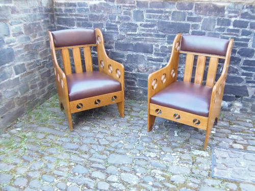 Pair of Arts & Crafts Chairs - Goodyers (1 of 9)