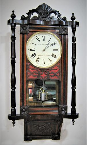 Early 1890's Anglo-American Striking Wall Clock (1 of 8)
