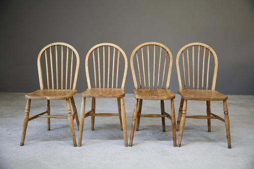 4 Beech & Elm Kitchen Chairs (1 of 12)