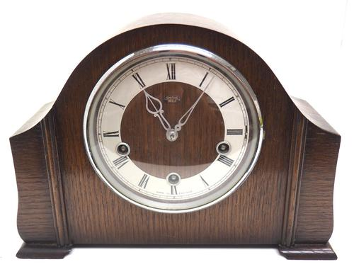 Very Good Arched Top Art Deco Mantel Clock – Musical Westminster Chiming 8-day Mantle Clock (1 of 8)