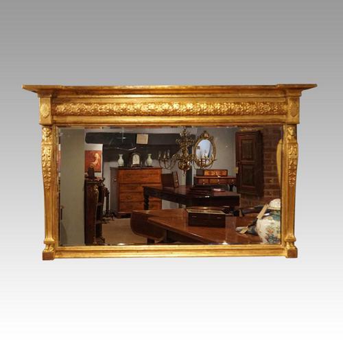 Regency Gilt Egyptian Revival Mirror (1 of 8)