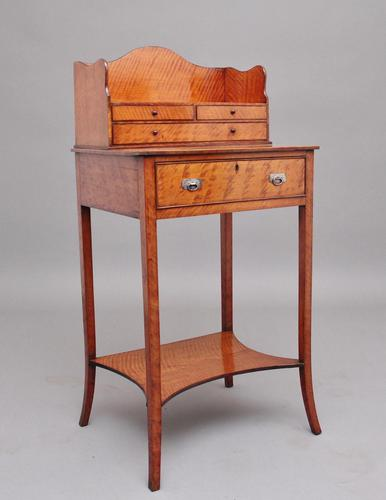 19th Century  Satinwood Ladies Writing Table in the Sheraton Style (1 of 15)