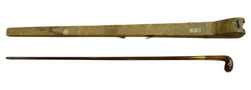 "Vintage Inlaid Specimen Wood Cane of "" Bird's Eye"" (1 of 6)"