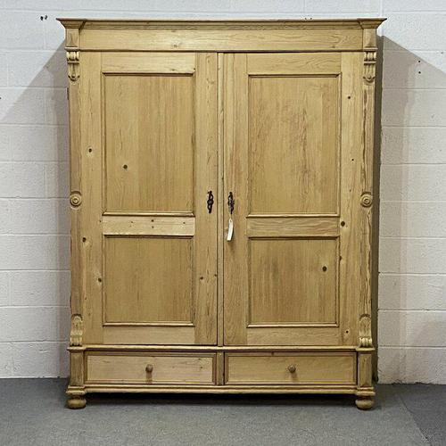 Very Large Antique Pine Wardrobe - dismantles (j0400f) (1 of 6)
