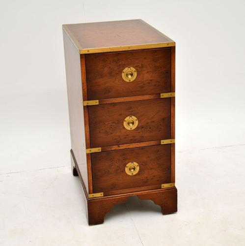 Burr Elm Military Campaign Style Side Chest (1 of 11)