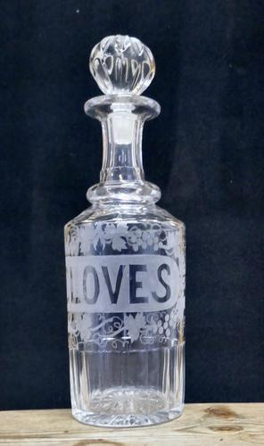 Victorian Etched Crystal Cloves Decanter (1 of 7)