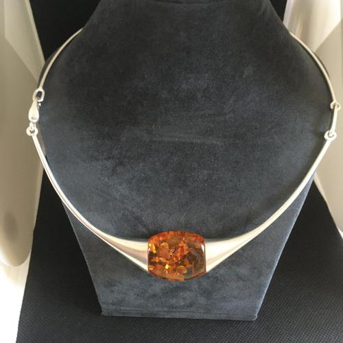 Lapponia Sterling Silver & Amber Necklace (1 of 4)