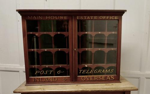 19th Century Mahogany Estate Office Mail Cupboard (1 of 10)