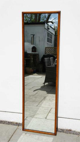 Large  Victorian Full Height Oak Framed Dressing Mirror (1 of 16)