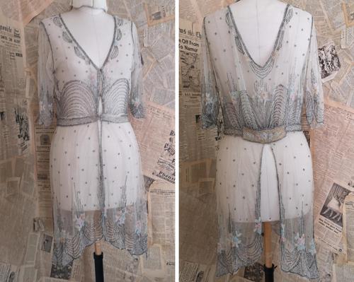 Vintage 1920's beadwork dress, Art Deco (1 of 20)