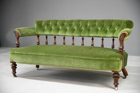 Victorian Upholstered Sofa (1 of 13)
