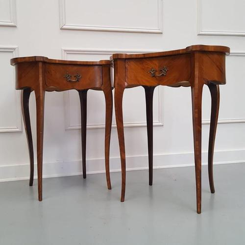Pair of Kingwood Side Tables c.1930 (1 of 9)