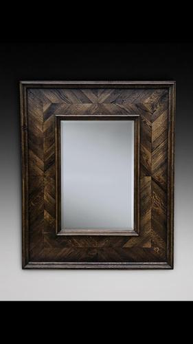 Decorative Oak Mirror (1 of 2)