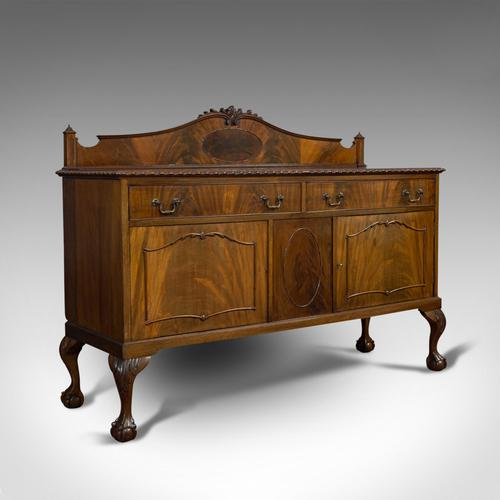 Antique Regency Revival Sideboard, English, Flame Mahogany, Victorian c.1900 (1 of 10)