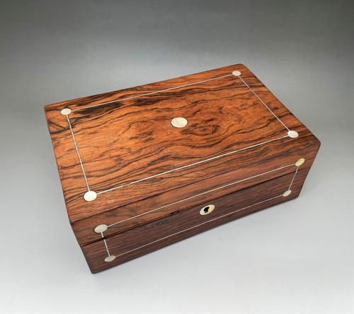 Lovely Victorian Mother-of-pearl Inlay Jewel Box (1 of 5)