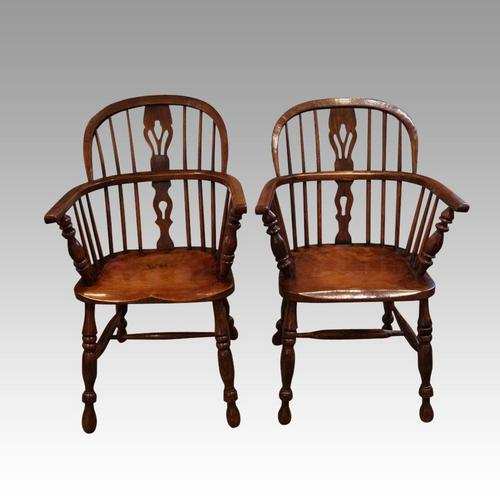 Pair of 19th Century Windsor Armchairs (1 of 6)