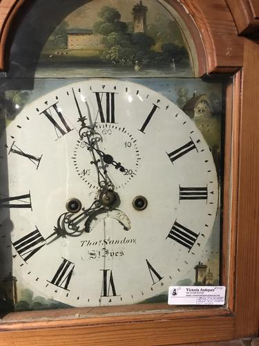Cornish Pine 8 Day L. C clock owned by Footballer & Beverley Sisters (1 of 11)