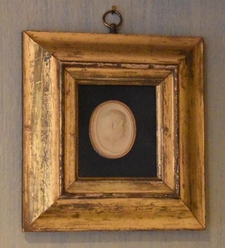 Framed Georgian Plaster Cast Profile Medallion (1 of 5)