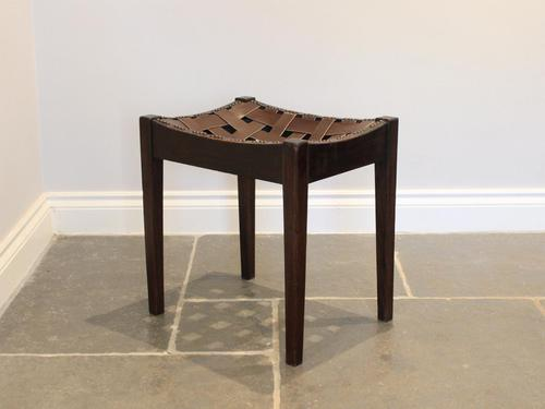 Arts & Crafts Stool in the manner of Simpson (1 of 5)