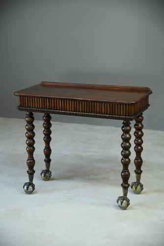 Victorian Mahogany Side Table (1 of 8)