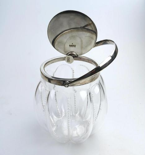 Novelty Silver Plate Automatic Opening Hukin & Heath Biscuit Jar c.1910 (1 of 6)