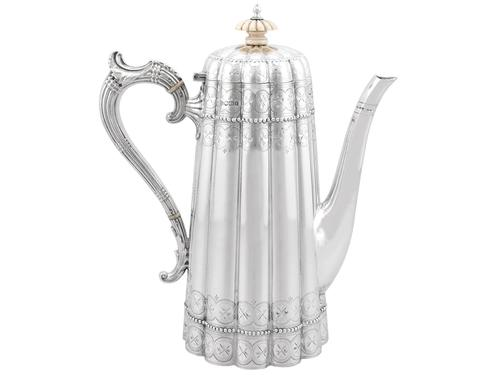 Sterling Silver Coffee Pot - Antique Victorian 1895 (1 of 12)