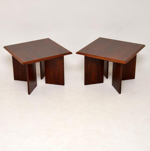 1970's Pair of Danish Vintage Rosewood Side Tables (1 of 11)