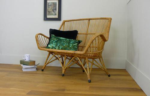 Good Vintage Wicker Rattan Sofa By Rohé Noordwolde (1 of 14)