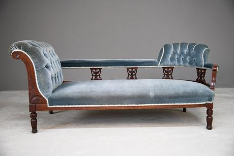 Victorian Upholstered Button Back Chaise Longue (1 of 11)
