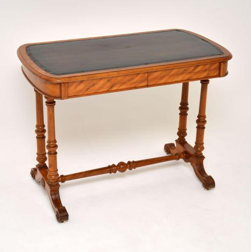 Antique Victorian Satinwood Writing Table by Heal & Son (1 of 15)