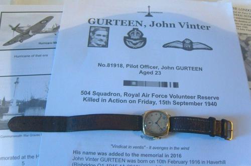 WW2 9ct Gold Longines Gentlemans Wrist Watch 1937 Hurricane Pilot Providence (1 of 12)