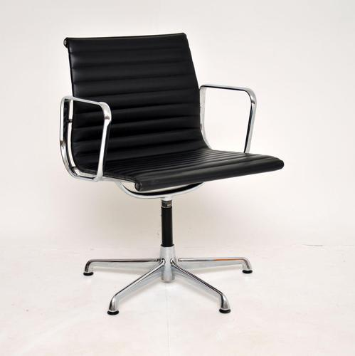 1970's Vintage Charles Eames Ea108 Leather Desk Chair by Icf (1 of 12)