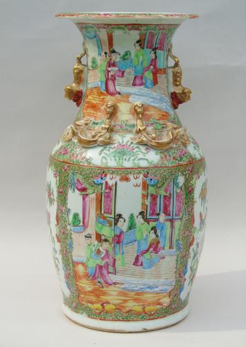 Good Large 19th Century Chinese Famille Rose Vase (1 of 12)