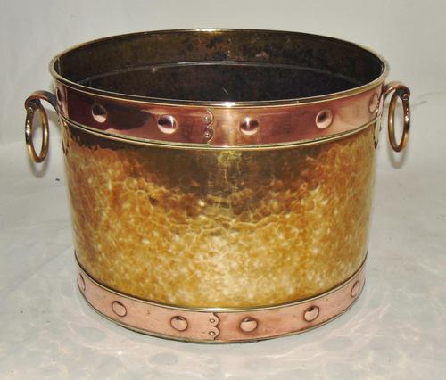 Victorian Copper & Brass Log Bin (1 of 5)