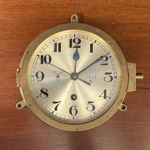 Serviced Rare WW2 Kriegsmarine Clock (1 of 5)