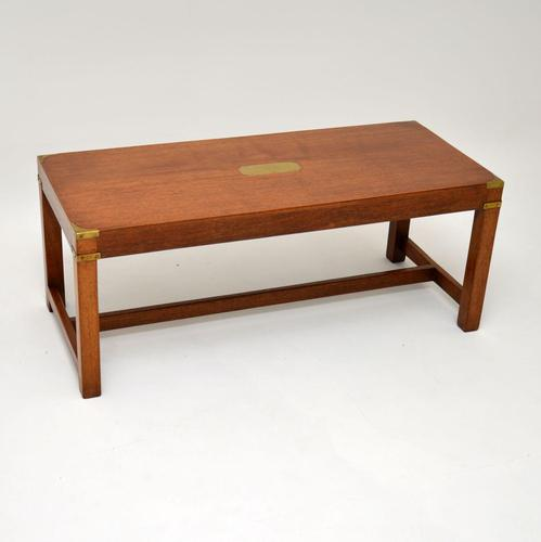 Antique  Mahogany Military Campaign Style Coffee Table (1 of 6)