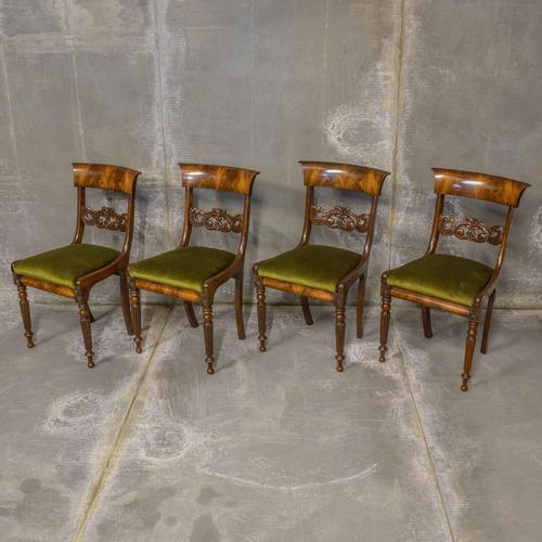 Set of Four William IV Mahogany Dining Chairs (1 of 7)