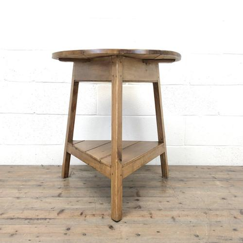 Antique Pine Tripod Side Table (m-2269) (1 of 8)