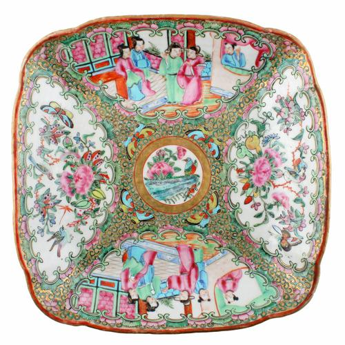 Chinese Canton Famille Rose Dish (1 of 7)