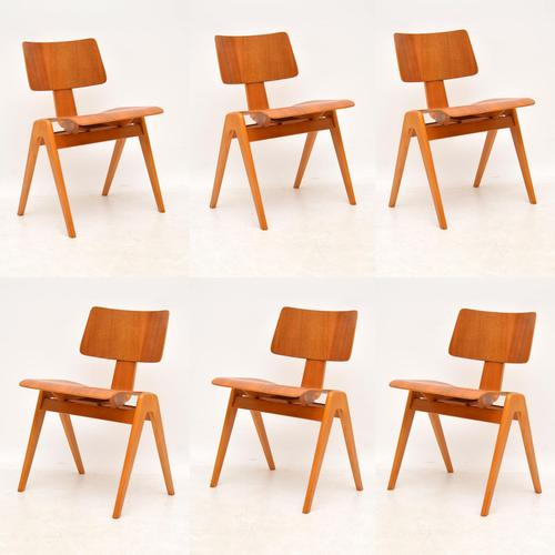 1950's Set of 6 Robin  Day Hillestak Dining Chairs for Hille (1 of 9)