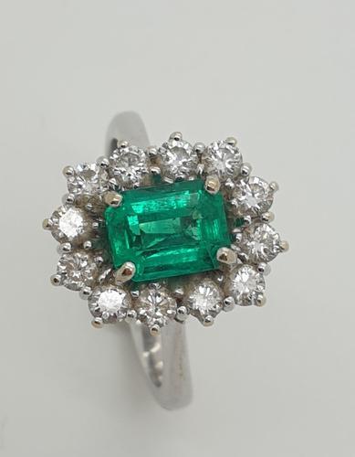 Italian Emerald Diamond Cluster (1 of 6)