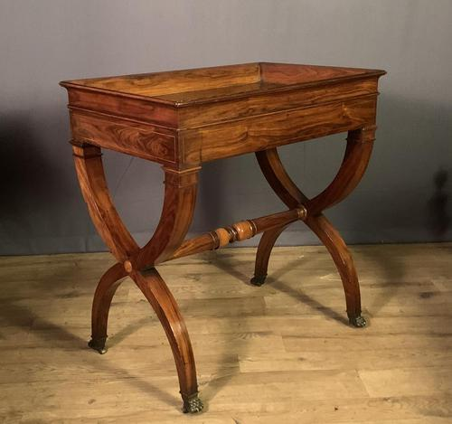 Stunning French Charles X Walnut Library Writing Table (1 of 16)
