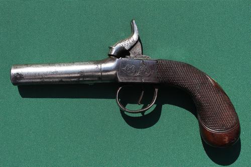 19th Century Box Lock Percussion Pistol (1 of 5)