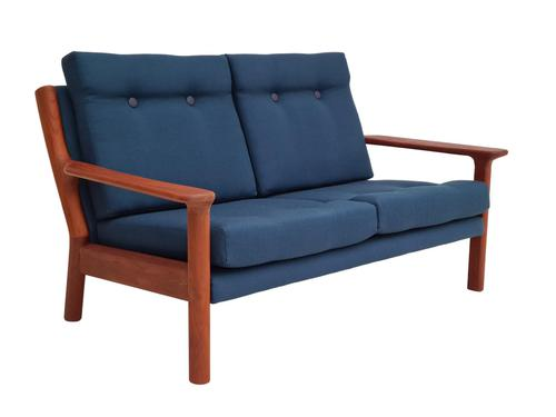 Completely renovated sofa, 70s, furniture wool, teak (1 of 13)