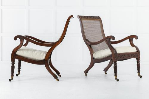 Pair of 19th Century Anglo Indian Plantation Chairs (1 of 8)