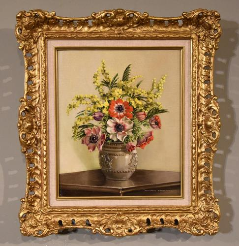 """Oil Painting by William Johnston """"A Floral Study"""" (1 of 5)"""