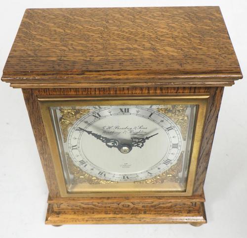 Perfect Vintage Mantel Clock Bracket Clock by Elliott of London Retailed by G H Pressley & Sons (1 of 8)