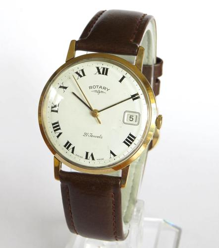 Gents 9ct Gold Rotary Wrist Watch, 1968 (1 of 5)