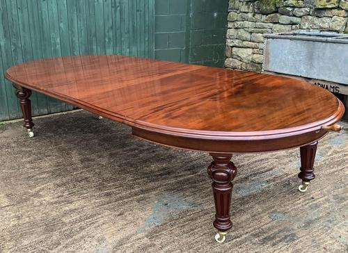 Super Quality Victorian Mahogany Extending Dining Table Seats 14 (1 of 18)